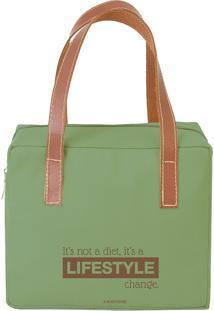 Bolsa Térmica Quadrada Lifestyle Verde - Boxmania