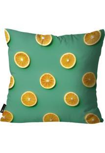 Capa Para Almofada Mdecore Frutas Verde 55X55