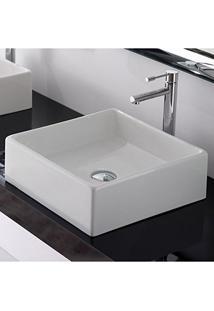 Cuba De Apoio Banheiro Lavabo Sobrepor Quadrada De Porcelana Cerâmica Louça C273 - Premierdecor