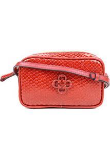 Bolsa Couro Capodarte Mini Bag Snake - Feminino-Marrom Claro