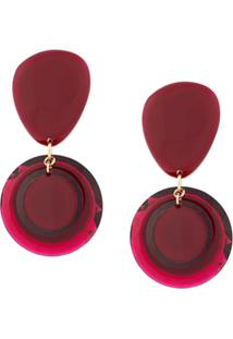 Isabel Marant Medium Post Earrings - Vermelho