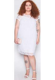 Vestido Plus Size Renda Branco