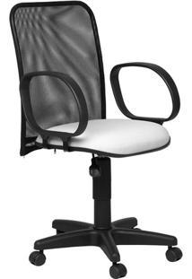Cadeira Diretor Tela Giratória Corsa Tecido Branco