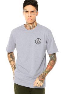 Camiseta Volcom Mini Circle Cinza
