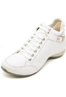 Bota Clube Do Sapato De Franca Top Confort 2 Fivela Feminina - Feminino-Branco