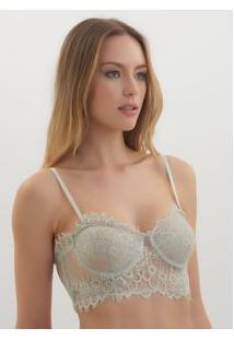 Bustiê Rosa Chá Dea 1 Underwear Cinza Feminino Bustie Dea 1-Mineral Grey-Pp