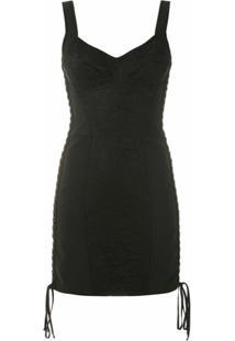 Dolce & Gabbana Vestido Com Amarração Lateral - Preto