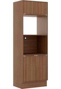 Armário De Cozinha 3 Portas 5404R Com Rodapé Nogueira - Multimóveis