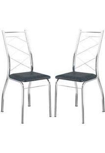 Cadeira 1710 Cromada 02 Unidades Jeans Carraro