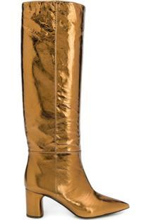 Casadei Bota Metalizada - Dourado