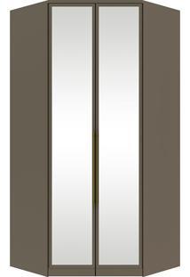 Guarda-Roupa De Canto Com Espelho E 2 Portas Diamante Ii M301-Henn - Damasco