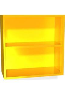 Nicho 60X60Cm Em Aço Amarelo Curry Casamob