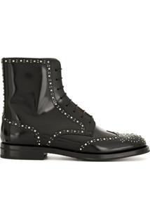 Church'S Ankle Boot Binder Lace-Up Stud - Preto