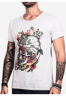 Camiseta Flower Skull 0256