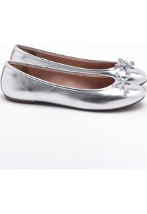 Sapatilha Metalizada Silver