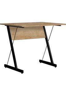 Mesa Para Computador Escrivaninha Zetta 90Cm Natura - Fit Mobel