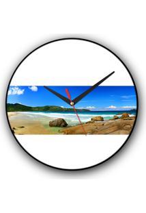 Relógio De Parede Colours Creative Photo Decor Decorativo, Criativo E Diferente - Panorâmica De Praia