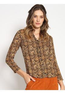 Camisa Animal - Amarela & Preta - Estilo Hestilo H