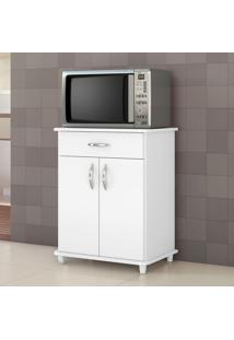 Armário De Cozinha Para Forno 2 Portas 1 Gaveta Dallas Branco New - Notavel