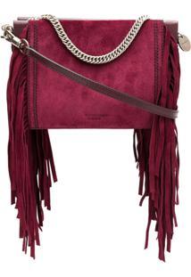 Givenchy Clutch De Camurça Com Franjas - Roxo