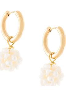 Sandralexandra Flori Beaded Earrings - Dourado