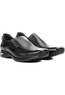 Sapato Social Democrata Smart Comfort Air Spot Masculino - Masculino-Preto