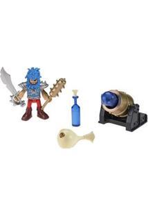 Imaginext Mattel Pirata Básico - Pirata E Canhão