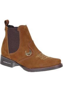 Bota Couro Urbana Boots Feminina - Feminino-Marrom