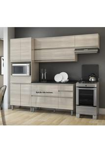 Cozinha Compacta Itatiaia Belíssima Plus 3 Peças 7 Portas Saara Wood