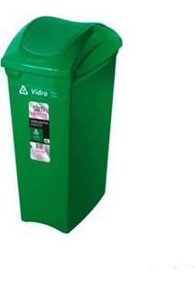 Lixeira Seletiva 40 Litros Verde Sanremo