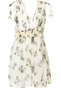 Msgm Vestido Com Estampa Floral - Neutro