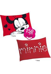 Fronha Minnie Vermelha Porta Travesseiro 150 Fios Lepper