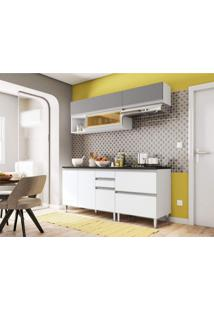 Cozinha Completa 6 Peças Evidence Poliman Móveis Branco