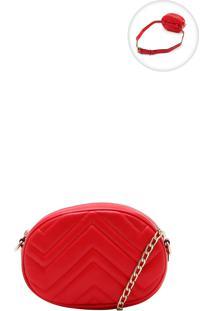 Bolsa Pochete Fiveblu Matelassê Vermelha