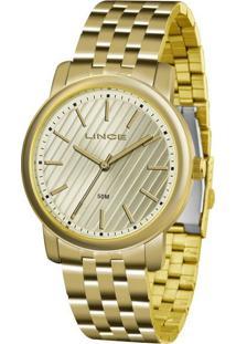 Kit Relógio Feminino Lince Lrg4513L-Ku66C1Kx Analógico 5Atm + Bracelete