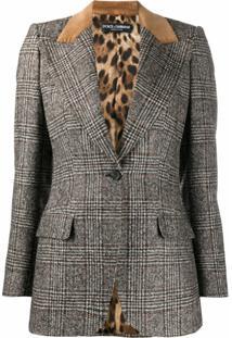 Dolce & Gabbana Blazer Xadrez Prince Of Wales - Branco