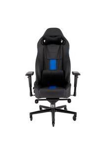 Cadeira Gamer Corsair T2 Road Warrior, Preto/Azul - Cf-9010009