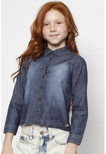 Camisa Jeans - Azul Escuro - Colcci Funcolcci
