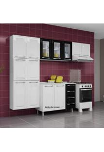 Cozinha Compacta 3 Peças Criativa 11 Portas Criativa Itatiaia Branco/Preto