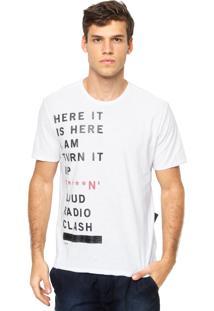 Camiseta Manga Curta Ellus Estampada Branca