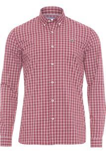 Camisa Masculina Manga Longa - Vermelho