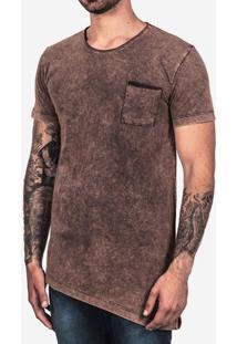Camiseta Assimétrica Chocolate Stone 101700