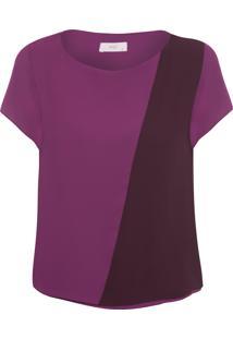 Blusa Feminina Bicolor - Roxo