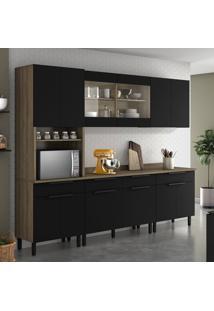 Cozinha Compacta Itamaxi 12 Pt 4 Gv Preta E Castanho