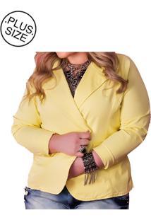 Blazer Plus Size - Confidencial Extra De Sarja Color