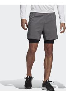 Shorts Adidas Dois Em Um Agravic Masculino - Masculino