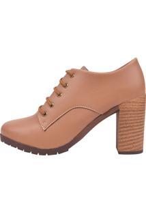 Sapato Chiquiteira Cano Curto Salto Alto Caramelo Ron