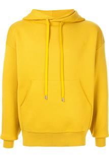 Caban Drawstring Hooded Sweater - Amarelo