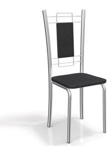 Cadeira Kappesberg Florença 2C005Cr (2 Uni) Cromada/Preto