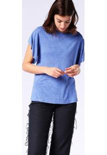 Camiseta Diesel T-Peta-B Feminina - Feminino-Azul